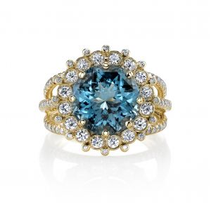 Blue Topaz Cupcake Ring